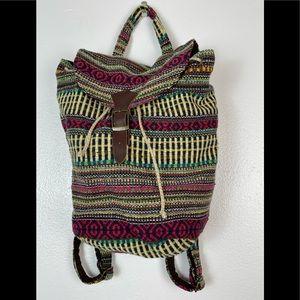 World Market Woven Backpack